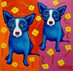 Blue Dog Mixed Media